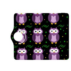 Halloween purple owls pattern Kindle Fire HDX 8.9  Flip 360 Case
