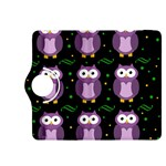 Halloween purple owls pattern Kindle Fire HDX 8.9  Flip 360 Case Front