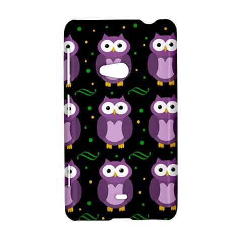 Halloween purple owls pattern Nokia Lumia 625