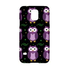 Halloween Purple Owls Pattern Samsung Galaxy S5 Hardshell Case