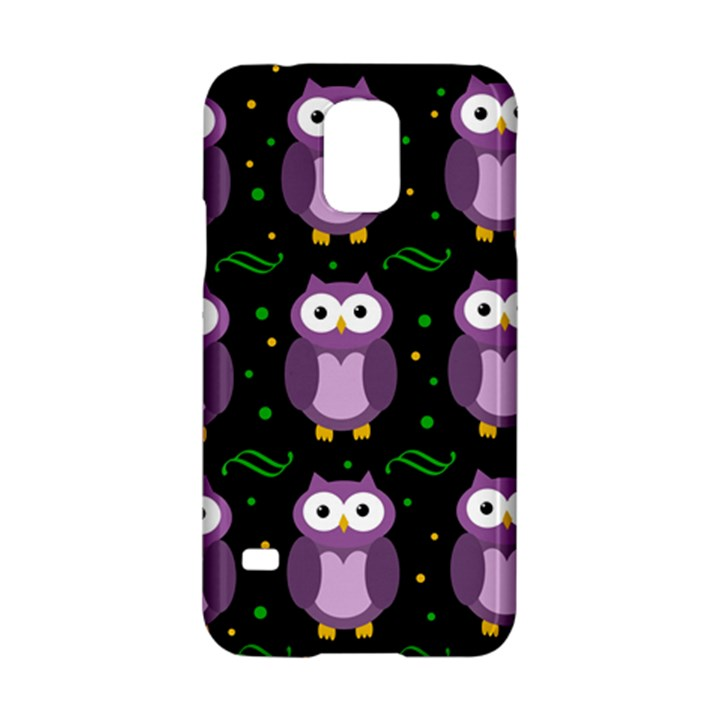 Halloween purple owls pattern Samsung Galaxy S5 Hardshell Case