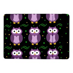 Halloween Purple Owls Pattern Samsung Galaxy Tab Pro 10 1  Flip Case