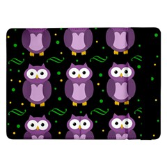 Halloween purple owls pattern Samsung Galaxy Tab Pro 12.2  Flip Case