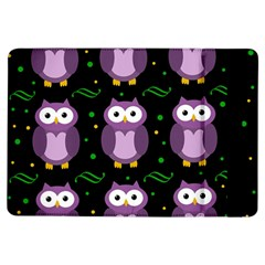 Halloween Purple Owls Pattern Ipad Air Flip