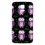 Halloween purple owls pattern Samsung Galaxy S5 Back Case (White) Front