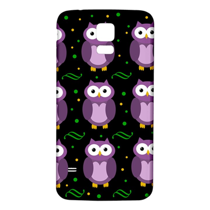 Halloween purple owls pattern Samsung Galaxy S5 Back Case (White)