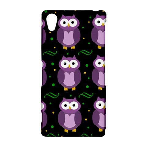 Halloween purple owls pattern Sony Xperia Z2