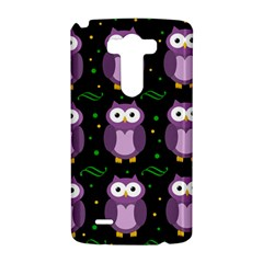 Halloween purple owls pattern LG G3 Hardshell Case