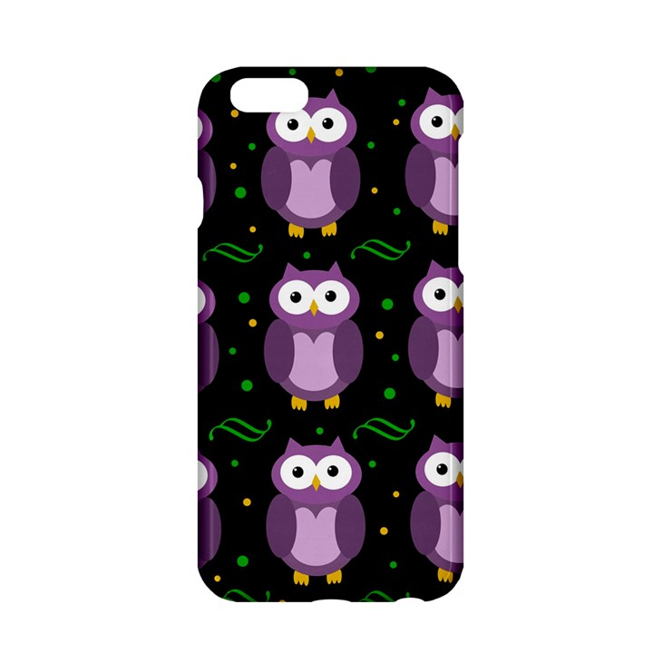 Halloween purple owls pattern Apple iPhone 6/6S Hardshell Case