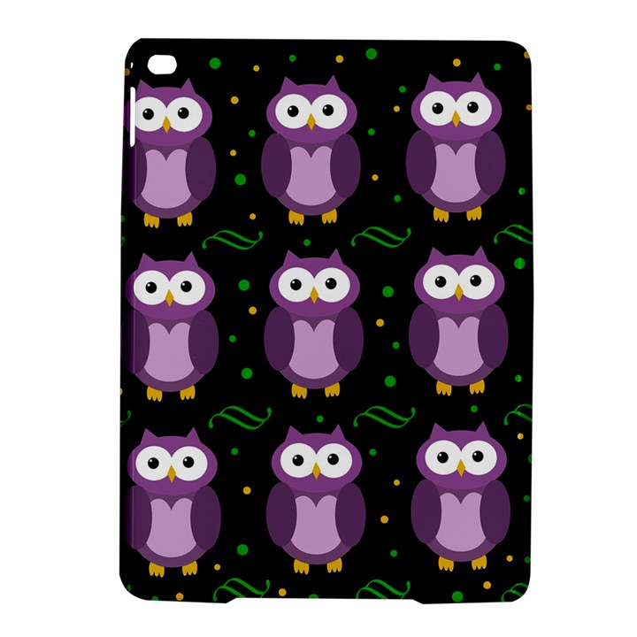 Halloween purple owls pattern iPad Air 2 Hardshell Cases