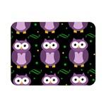 Halloween purple owls pattern Double Sided Flano Blanket (Mini)  35 x27 Blanket Front