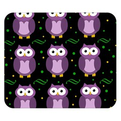 Halloween purple owls pattern Double Sided Flano Blanket (Small)