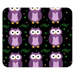 Halloween purple owls pattern Double Sided Flano Blanket (Small)  50 x40 Blanket Back