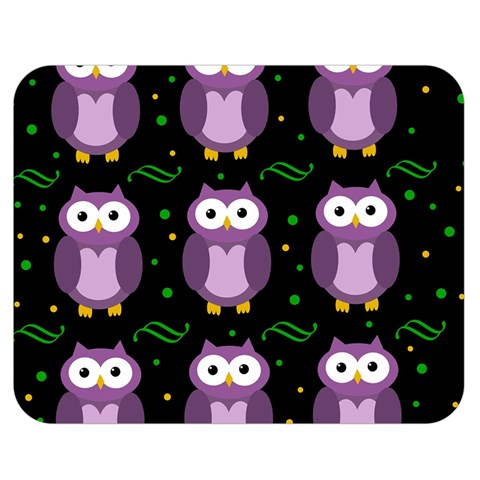 Halloween purple owls pattern Double Sided Flano Blanket (Medium)