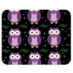 Halloween purple owls pattern Double Sided Flano Blanket (Medium)  60 x50 Blanket Back