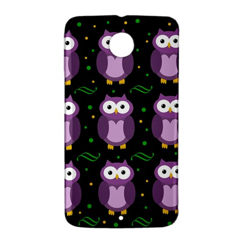 Halloween purple owls pattern Nexus 6 Case (White)