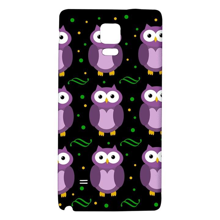Halloween purple owls pattern Galaxy Note 4 Back Case