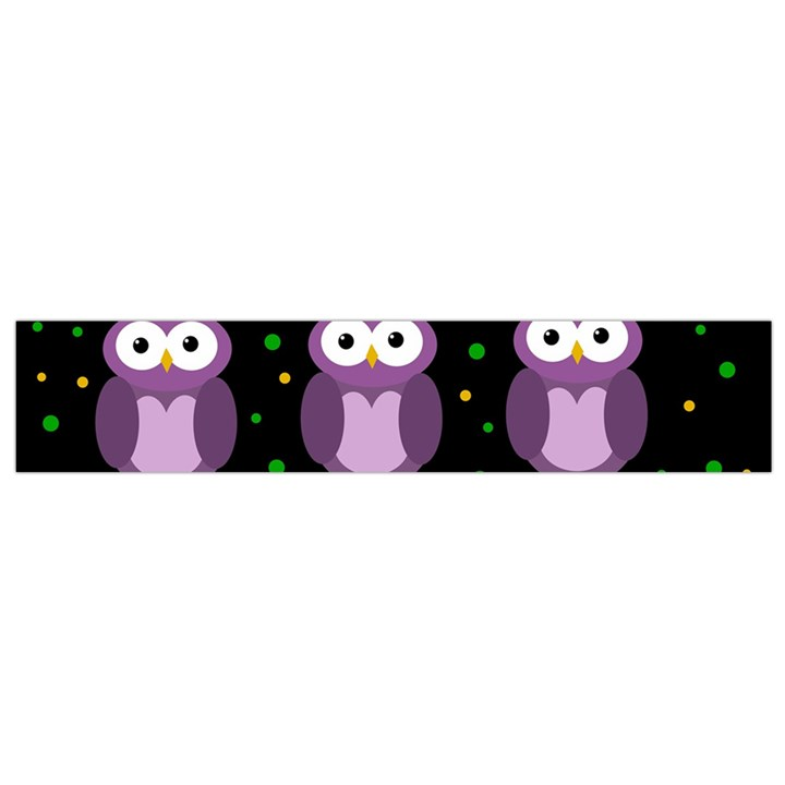 Halloween purple owls pattern Flano Scarf (Small)