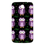 Halloween purple owls pattern Samsung Galaxy Mega I9200 Hardshell Back Case Front
