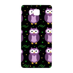 Halloween purple owls pattern Samsung Galaxy Alpha Hardshell Back Case