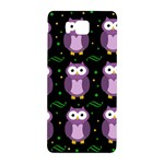 Halloween purple owls pattern Samsung Galaxy Alpha Hardshell Back Case Front