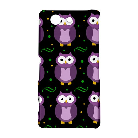 Halloween purple owls pattern Sony Xperia Z3 Compact