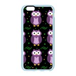 Halloween purple owls pattern Apple Seamless iPhone 6/6S Case (Color) Front