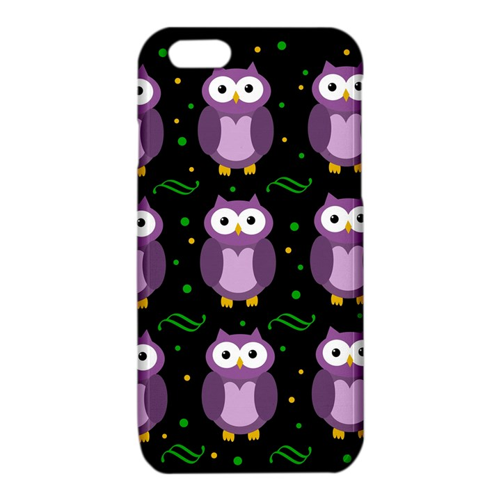 Halloween purple owls pattern iPhone 6/6S TPU Case
