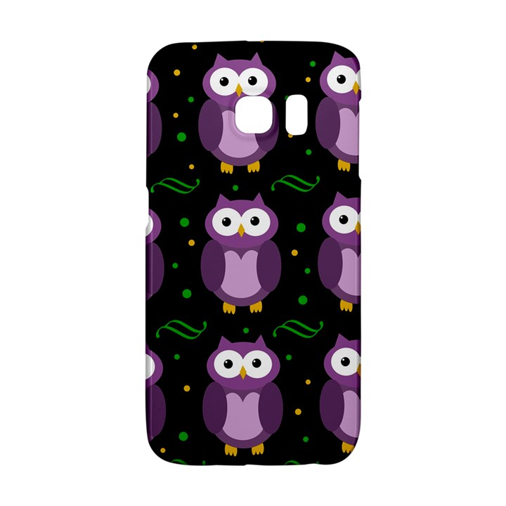 Halloween purple owls pattern Galaxy S6 Edge