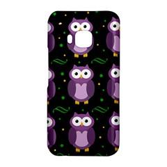 Halloween purple owls pattern HTC One M9 Hardshell Case