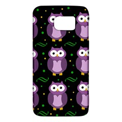 Halloween purple owls pattern Galaxy S6
