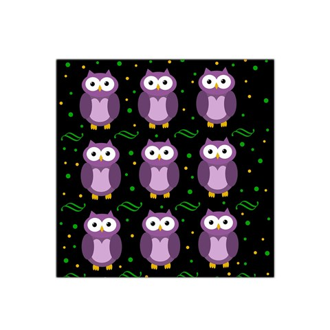 Halloween purple owls pattern Satin Bandana Scarf