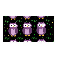 Halloween purple owls pattern Satin Shawl