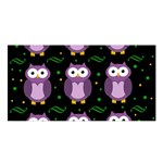 Halloween purple owls pattern Satin Shawl Front