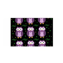Halloween purple owls pattern Satin Wrap