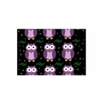 Halloween purple owls pattern Satin Wrap Front