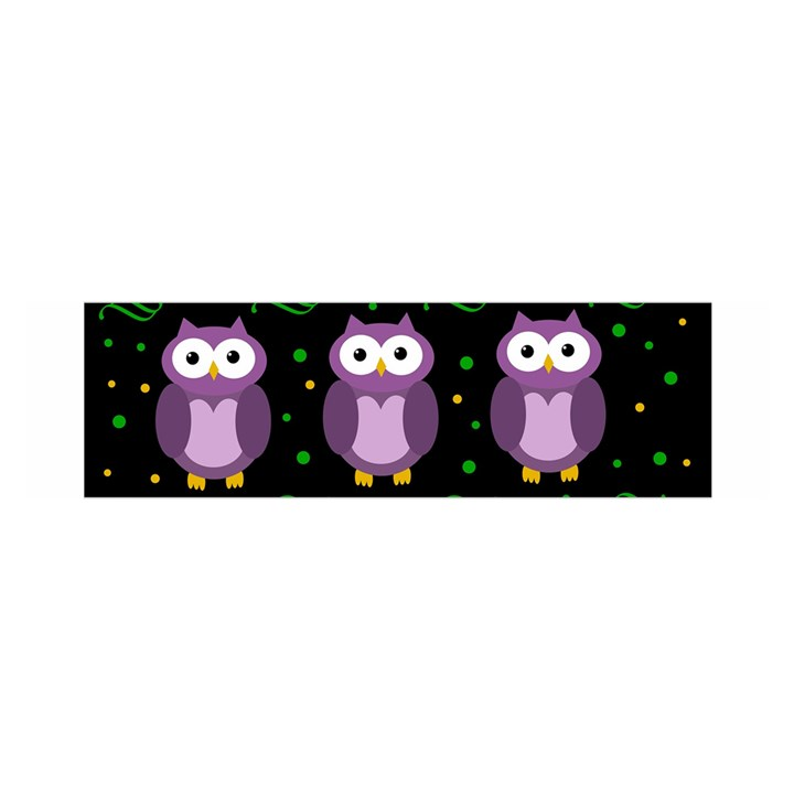 Halloween purple owls pattern Satin Scarf (Oblong)