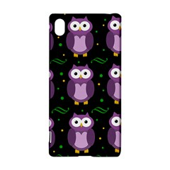 Halloween purple owls pattern Sony Xperia Z3+