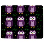 Halloween purple owls pattern Jigsaw Puzzle Photo Stand (Rectangular) Front