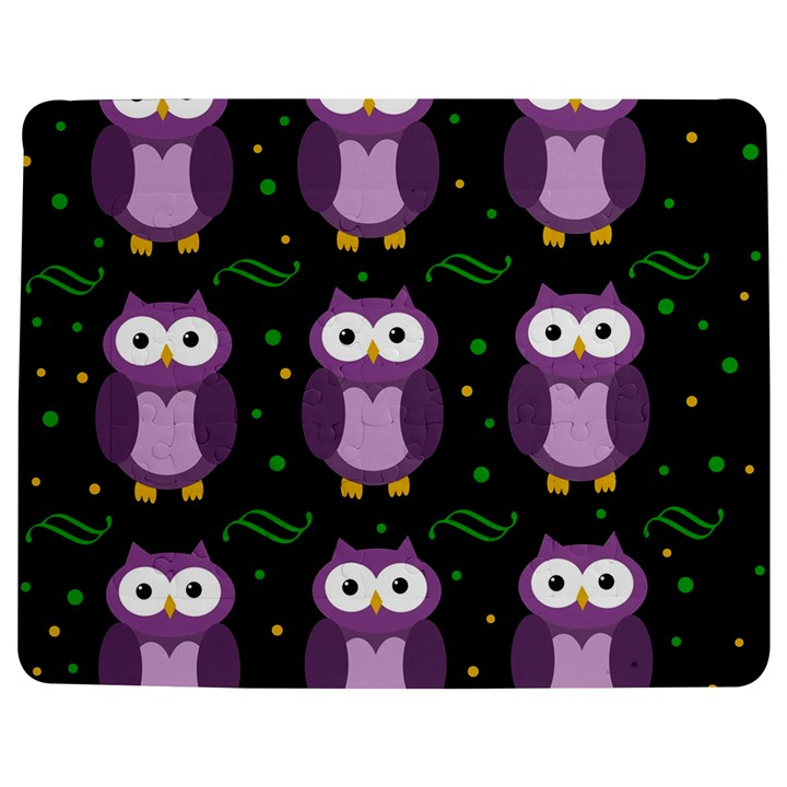 Halloween purple owls pattern Jigsaw Puzzle Photo Stand (Rectangular)