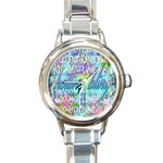 Drake 1 800 Hotline Bling Round Italian Charm Watch Front