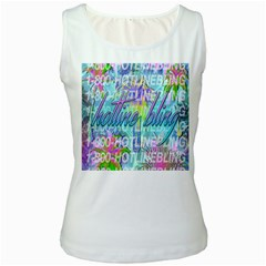 Drake 1 800 Hotline Bling Women s White Tank Top