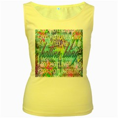 Drake 1 800 Hotline Bling Women s Yellow Tank Top