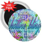 Drake 1 800 Hotline Bling 3  Magnets (100 pack) Front
