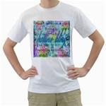 Drake 1 800 Hotline Bling Men s T-Shirt (White) (Two Sided) Front