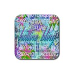 Drake 1 800 Hotline Bling Rubber Coaster (Square)  Front