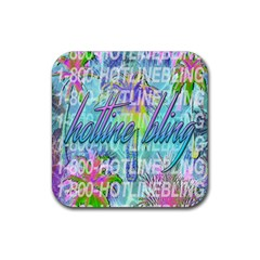 Drake 1 800 Hotline Bling Rubber Square Coaster (4 Pack)