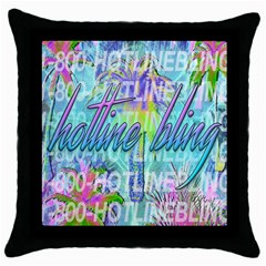 Drake 1 800 Hotline Bling Throw Pillow Case (Black)