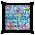 Drake 1 800 Hotline Bling Throw Pillow Case (Black) Front