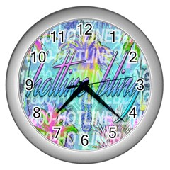 Drake 1 800 Hotline Bling Wall Clocks (Silver)
